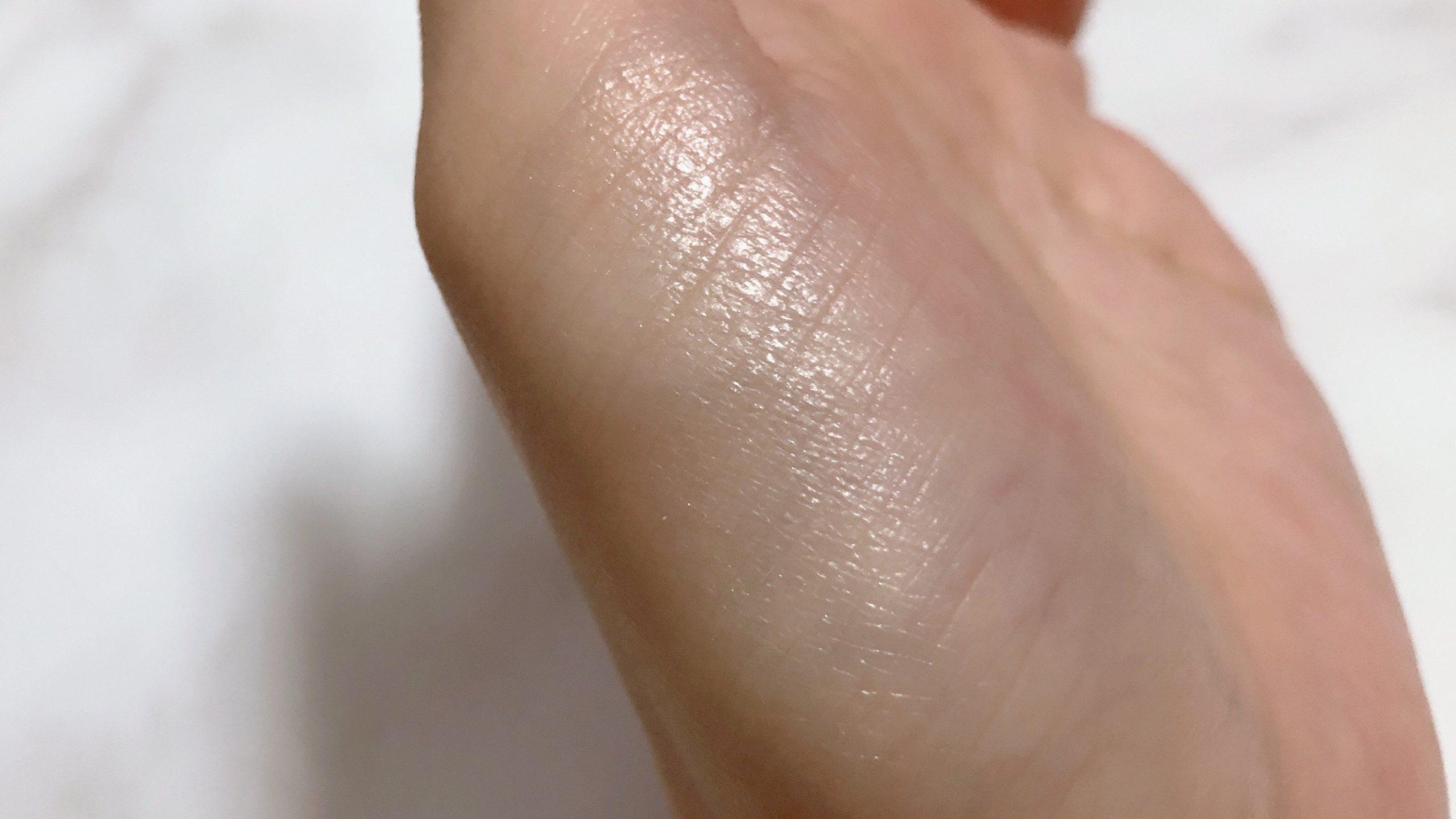 指でたっぷり粉を取って塗ってみた写真