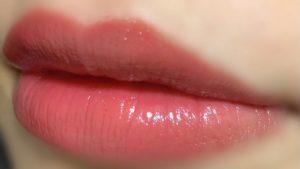 ギブアフィグを唇に塗った写真