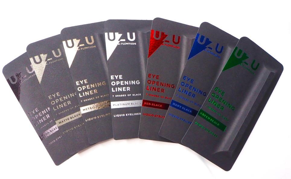 7つの黒アイライナー【全色レビュー】UZU 7 SHADES OF BLACK